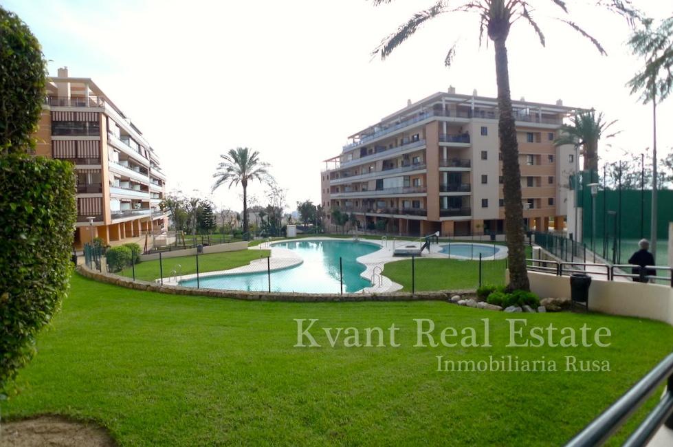 Просторная квартира с видом на Средиземное море и горы